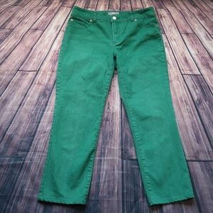 Chico's So Slimming Jeans Green Size 0.5